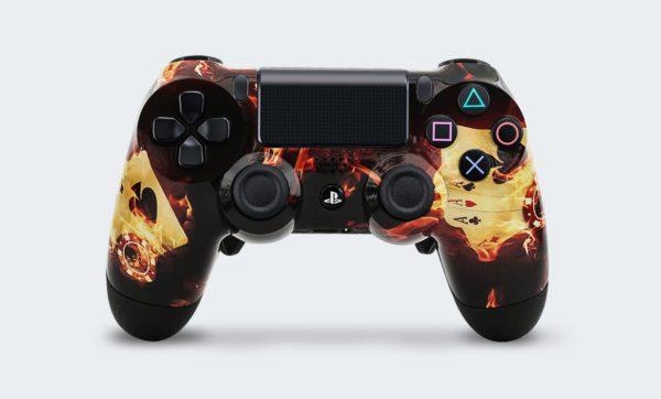 Controle Playstation Dualshock 4 Personalizado com Grip, Padles e Trigger Shot (foto frontal)