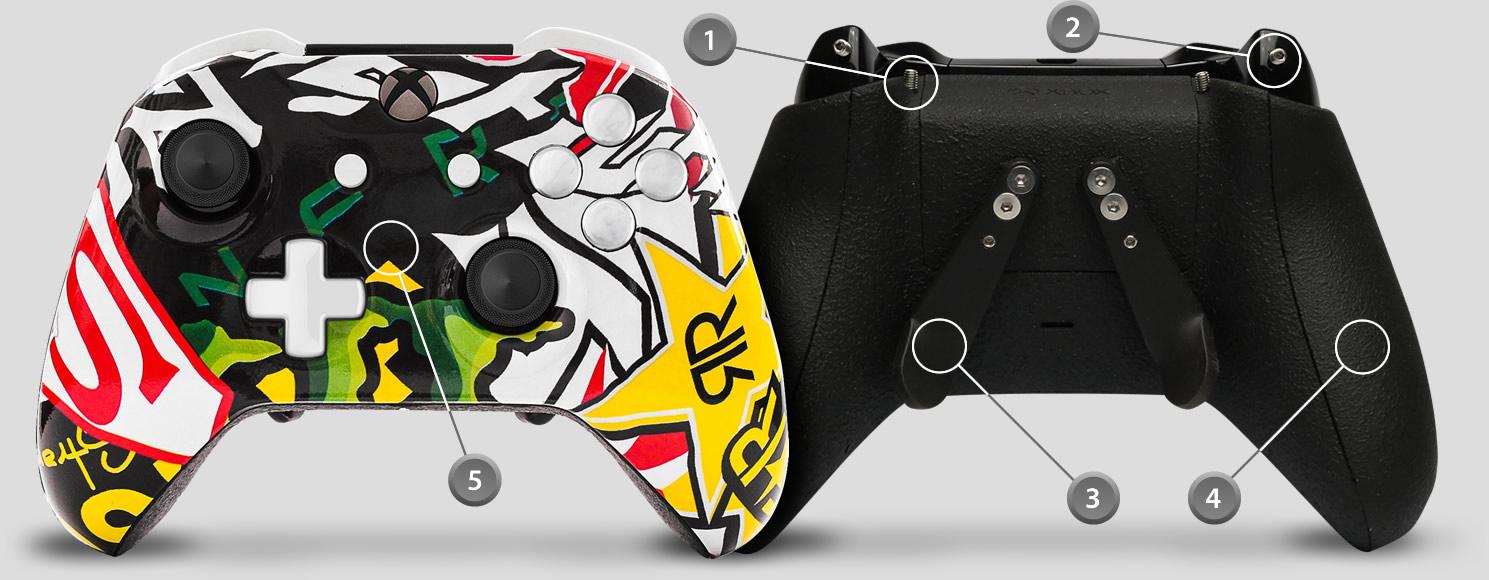 detalhes controle xbox one personalizado